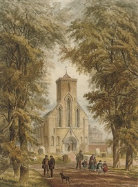 nun monkton church, yorkshire by john henry leonard