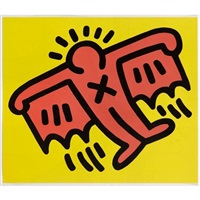 flying devil (from icons series) by keith haring