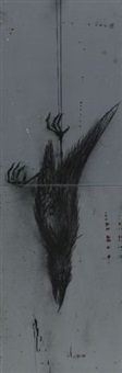 falling dead bird (in 2 parts) by roa
