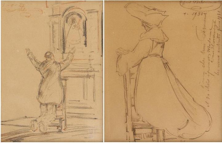 béguine a léglise 2 works by alfred napoléon delaunois