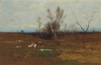 landscape with sheep by edward b. gay