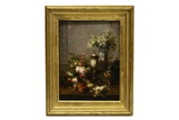 still life with flowers and gilt chalices by jean-baptiste robie