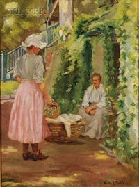 in the garden by helen r. rathbun