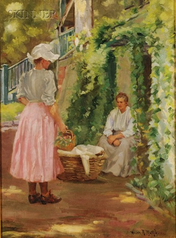 in the garden by helen r rathbun