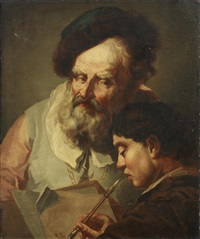 a teacher with his pupil by domenico maggiotto