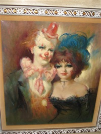 clown with showgirl by julian ritter