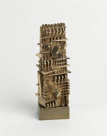 senza titolo piccola scultura by arnaldo pomodoro