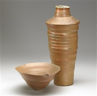 vessel (+ vase, lrgr; 2 pieces) by mary roehm