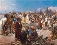 scène de marché en orient by heinrich maria staackmann