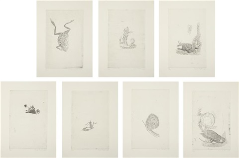 hunters and gatherers set of 7 by kiki smith