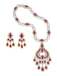 necklace (+ ear pendants; 2 works) by gucci (co.)