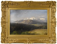 mountainous landscape by hermann herzog