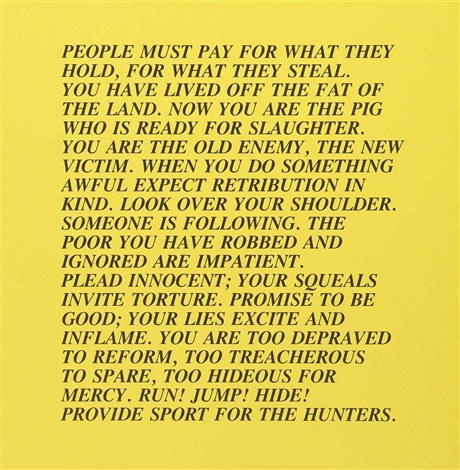 truisms and essays portfolio of 12 by jenny holzer