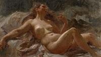 etude de nu pour un décor (study) by alexis joseph mazerolle