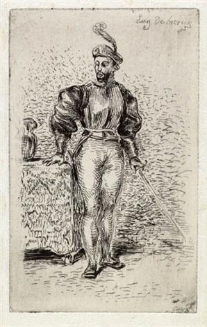 un homme darmes by eugène delacroix