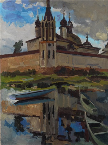 reflection of spaso yakovlevsky monastery rostov the great by alexander markovich imkhanitsky