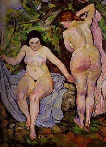 les deux baigneuses by suzanne valadon