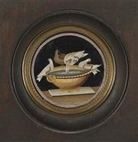 les colombes de pline s'abreuvant by giacomo raffaelli