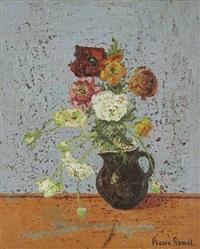 composition aux fleurs by mané-katz