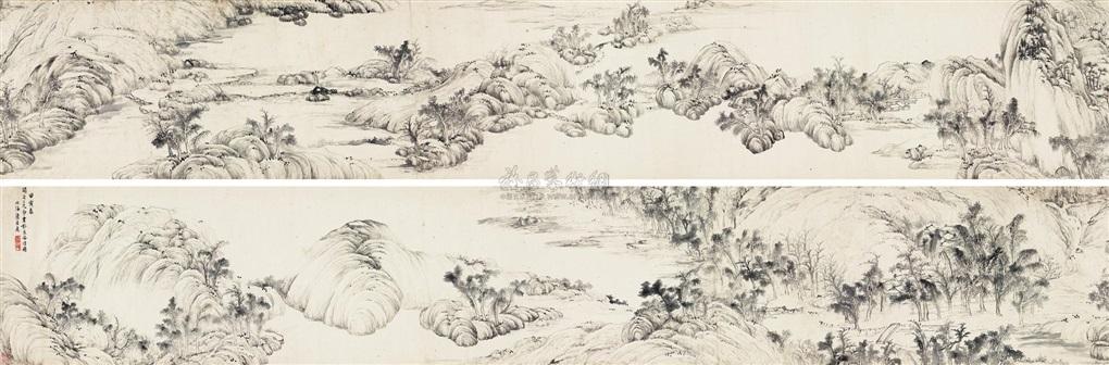 水墨山水卷 landscape by fa ruozhen