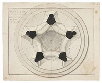 prospetto di tempio pentagonale. pianta by giuseppe valadier