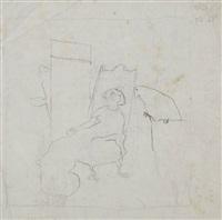 femme assise dans un fauteuil et deux perroquets by pierre bonnard