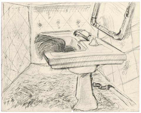 sink by maria lassnig