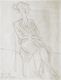 woman on a chair by arnold fiedler