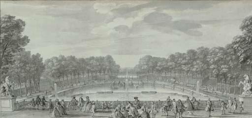 une vue du château marly prise du bas du grand parterre by jacques rigaud