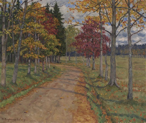 country lane by nikolai petrovich bogdanov belsky