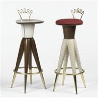 stools (pair) by aldo bartolucci