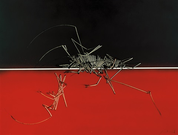 rosso e nero by emilio scanavino