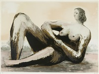 reclining woman iii by henry moore