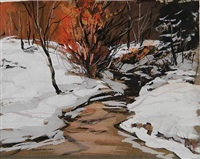 winter stream by carl frederick gaertner
