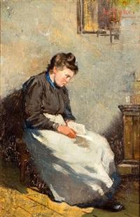lezende vrouw by james de rijk