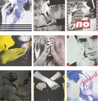 untitled (we will no longer be seen and not heard) (portfolio of 9) by barbara kruger