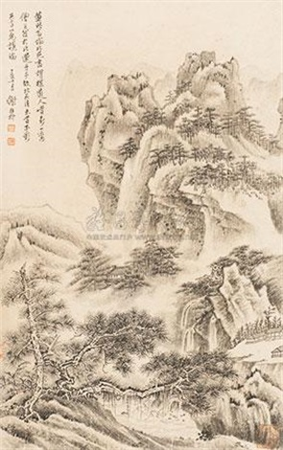 拟董北苑山水 by xie zhiliu