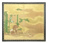 a two-fold screen by anonymous-japanese (edo period)