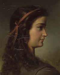 profilbildnis einer jungen dame by friedrich krepp