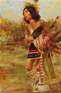 indian boy dancer by mike desatnick