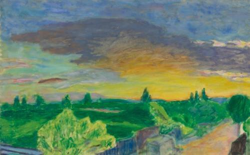 paysage au soleil couchant by pierre bonnard