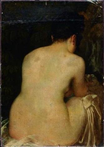 jeune baigneuse nue agenouillée devant by antoine jean baron gros gros