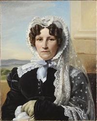 portrait de la comtesse eugénie de glymes de hollebeke by françois joseph navez