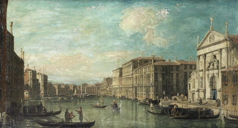 the grand canal venice with the church of san stae in the foreground by bernardo bellotto