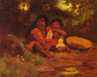 two pomo children by alice gray coutts