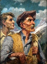 la vecchia e la giovane guida alpina by gianfranco campestrini