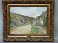 rue animée au coeur du village by a. sausay