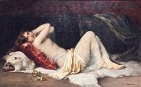 jeune femme allongée by a. bourrelly