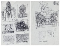 pages d'études (studies) by rené magritte