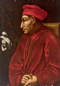 bildnis des cosimo il vecchio de medici (after painting in the uffizi in florence) by pontormo (jacopo carucci)